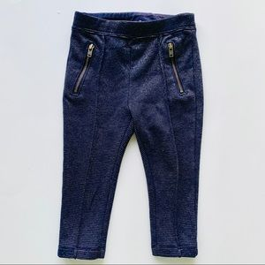 Baby Gap 12 to 18 Point Pants Navy Blue-Gold Zip